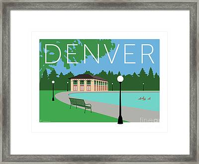 Denver Washington Park/blue Framed Print