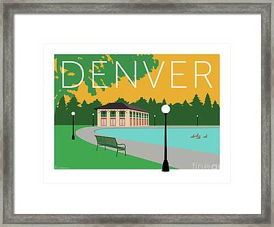 Denver Washington Park/gold Framed Print