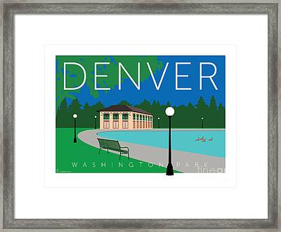 Denver Washington Park Framed Print