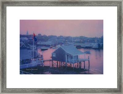 Departing Nantucket Framed Print
