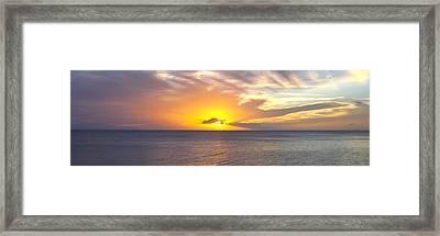 Departing St. Lucia Framed Print