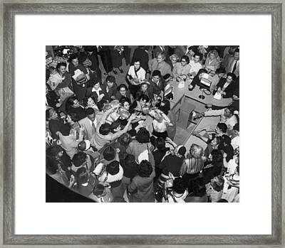 Department Store Sale Shoppers Framed Print by Underwood Archives