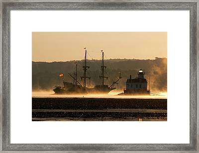 Departure Of El Galeon I Framed Print by Jeff Severson