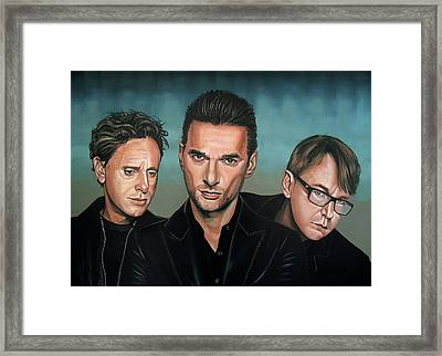 Depeche Mode Painting Framed Print by Paul Meijering