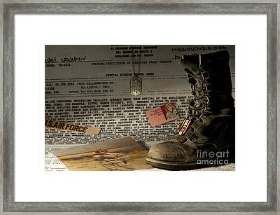 Framed Print featuring the photograph Deployment by Melany Sarafis
