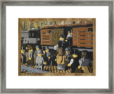 Deportation From Warsaw To Treblinka July 22 1942 Framed Print by Josh Bernstein