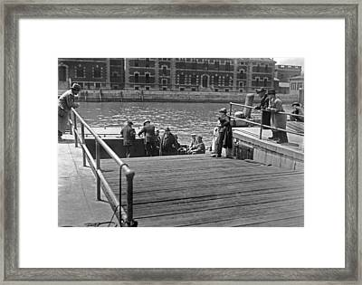 Deportees Leaving Ellis Island Framed Print by Underwood Archives