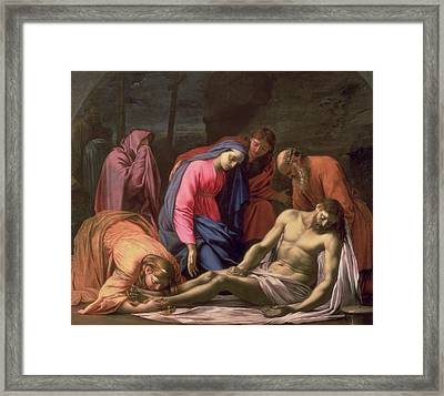 Deposition Framed Print by Eustache Le Sueur