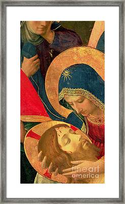 Deposition From The Cross Framed Print by Fra Angelico