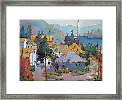 Depot By The River Framed Print