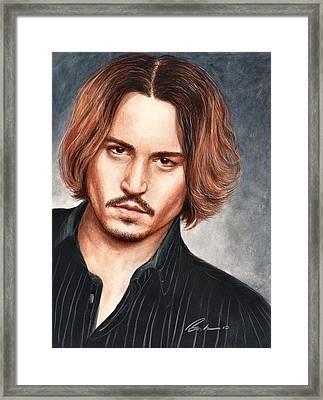 Depp Framed Print by Bruce Lennon