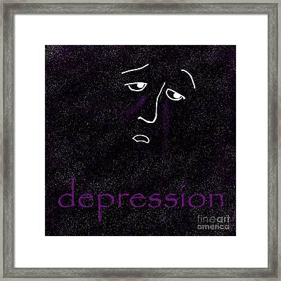 Depression Framed Print by Methune Hively