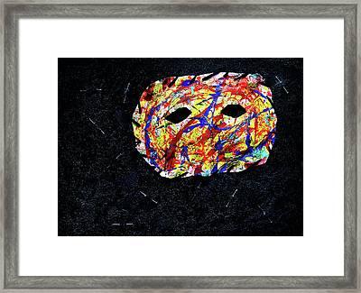 Depression Series - #2 - The Mask Framed Print
