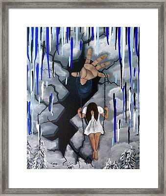 Framed Print featuring the painting Depression by Teresa Wing