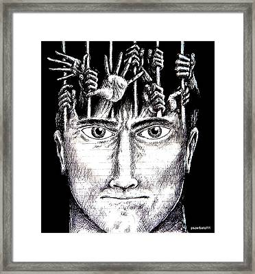 Deprivation Of Freedom Of Expression Framed Print by Paulo Zerbato