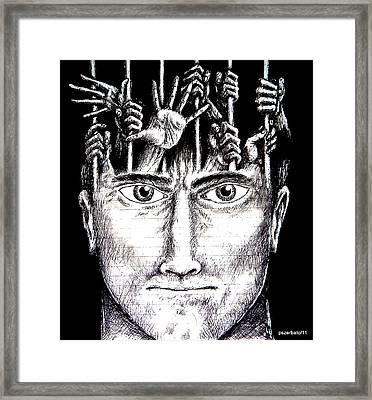 Deprivation Of Freedom Of Expression Framed Print