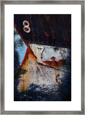 Depth Markers Framed Print