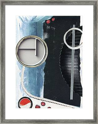 Framed Print featuring the painting Depth Onto Space by Michal Mitak Mahgerefteh