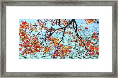 Framed Print featuring the photograph der Oktober by Expressive Landscapes Fine Art Photography by Thom