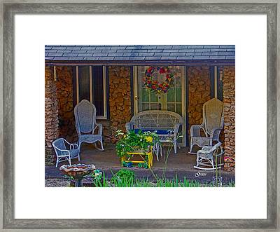 Der Vaters Edge House Framed Print by Julie Grace