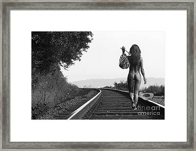 Derailed Framed Print