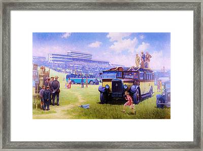 Derby Day Epsom Framed Print by Mike  Jeffries