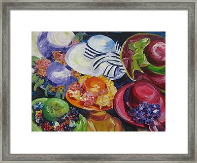 Derby Hats Framed Print by Dani Altieri Marinucci