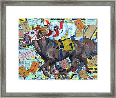 Derby Tickets Framed Print by Michael Lee