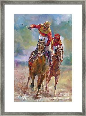 Derby Winner Framed Print by Laurie Hein