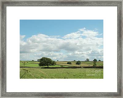Derbyshire Landscape Framed Print by Mini Arora