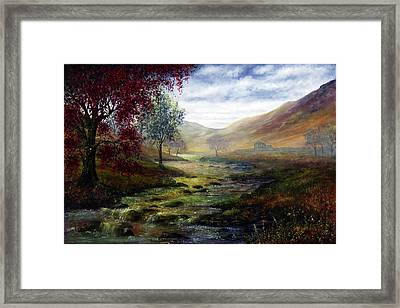 Derbyshire Secret Framed Print by Ann Marie Bone