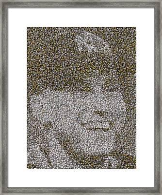 Derek Jeter Baseballs Mosaic Framed Print