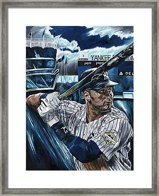 Derek Jeter Framed Print by David Courson