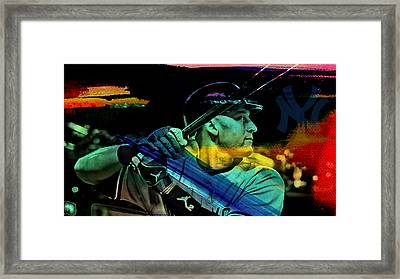 Derek Jeter Framed Print by Marvin Blaine