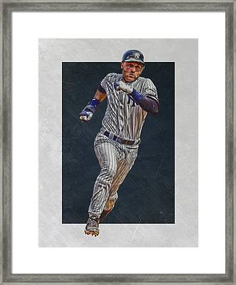 Derek Jeter New York Yankees Art 3 Framed Print by Joe Hamilton