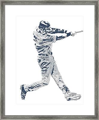 Derek Jeter New York Yankees Pixel Art 10 Framed Print