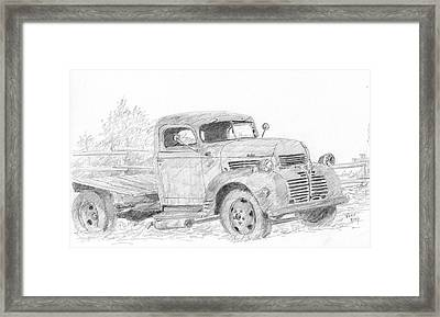 Derelict Dodge Framed Print