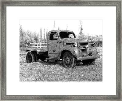 Derelict Dodge Dd Framed Print