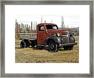 Derelict Dodge Photo Framed Print