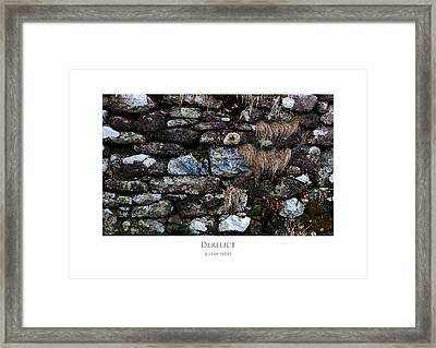Framed Print featuring the digital art Derelict by Julian Perry