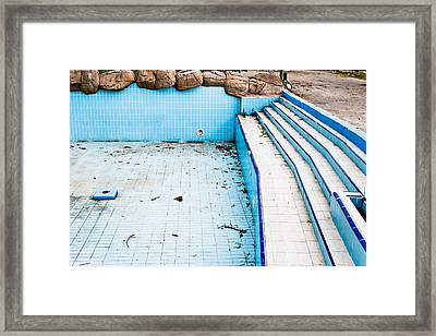 Derelict Pool Framed Print