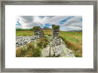 Derelict Quarry Building Framed Print by Adrian Evans