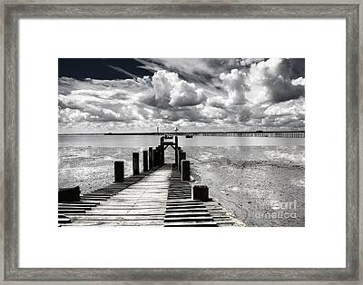 Derelict Wharf Framed Print