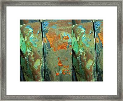 Dereliction Of Paint 2 Framed Print