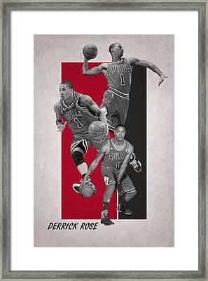 Derrick Rose Chicago Bulls Framed Print by Joe Hamilton