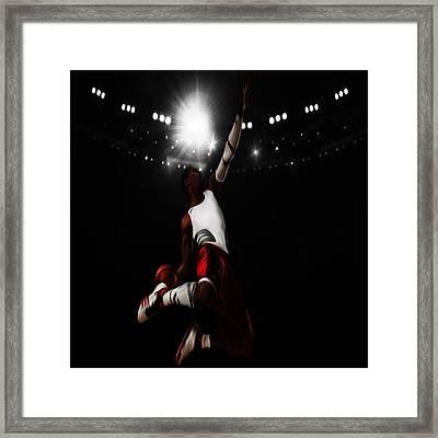 Derrick Rose I Rise Framed Print by Brian Reaves
