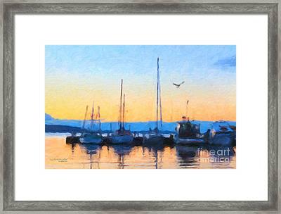 Derwent River Sunset Framed Print