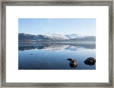 Derwentwater Rocks Framed Print