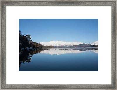 Derwentwater Winter Reflection Framed Print