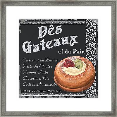 Des Gateaux Framed Print by Debbie DeWitt
